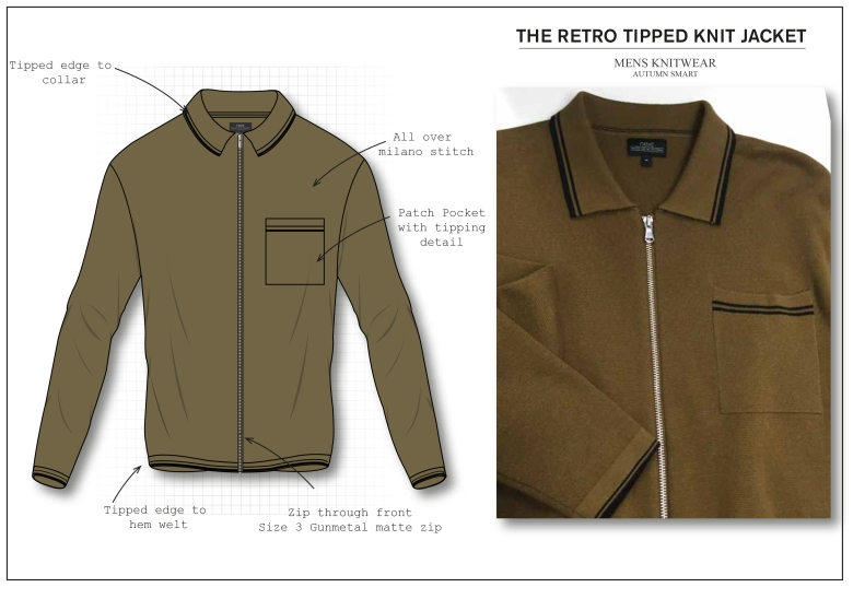 Retro Smart Ochre zip